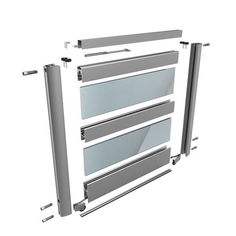 schiebet r deckenschiene dreil ufig profil aluminium 20 00. Black Bedroom Furniture Sets. Home Design Ideas