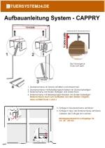 Aufbauanleitung Schiebetür System CAPPRY